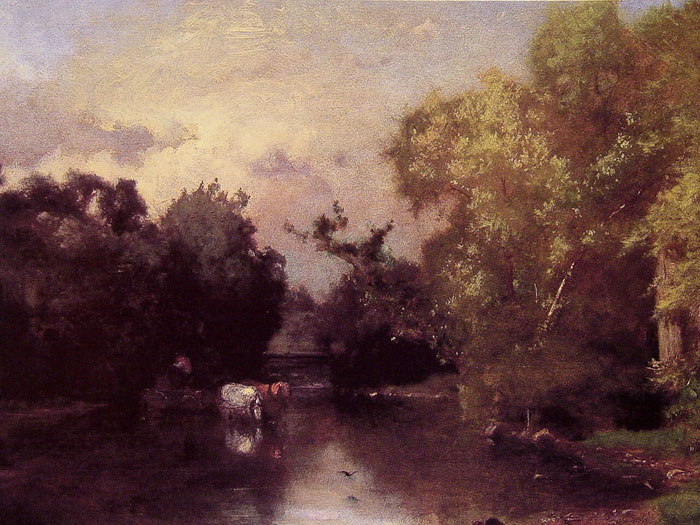 George Inness Reproductions-The Pequonic, New Jersey, 1877