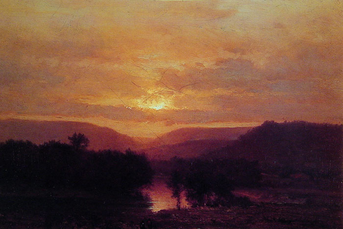 Paintings Reproductions Inness, George Sunset,  c.1860-1865
