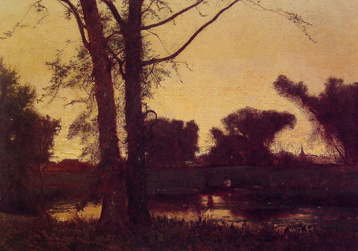 George Inness Reproductions-Sunset