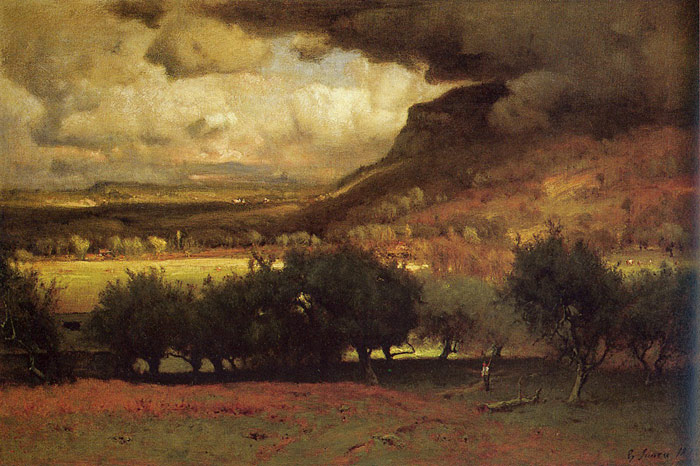 George Inness Reproductions-The Coming Storm