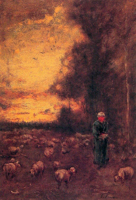 George Inness Reproductions-End of Day, 1855