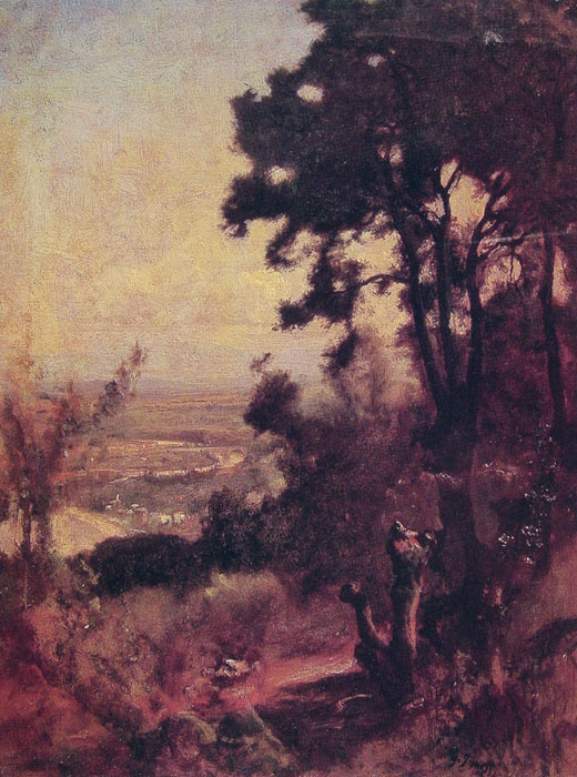 George Inness Reproductions-Valley Near Perugia, c.1867
