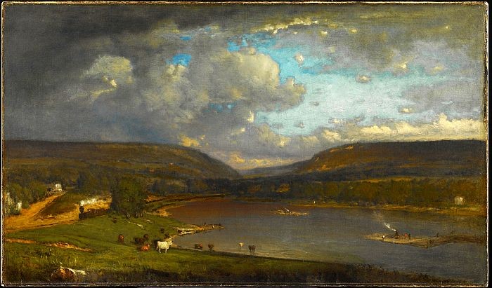 Paintings Reproductions Inness, George On the Delaware, 1861