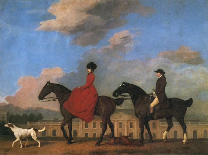 George Stubbs Reproductions-John and Sophia Musters Out Riding at Colwick Hall, 1777