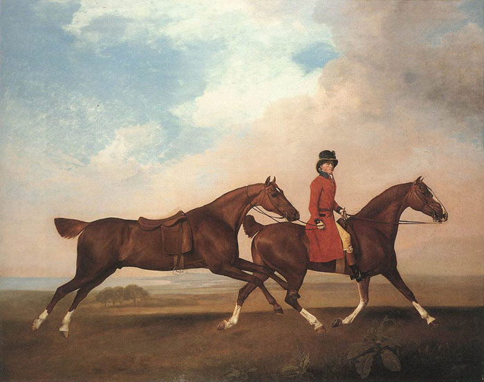 George Stubbs Reproductions-William Anderson with Two Saddled Horses, 1793