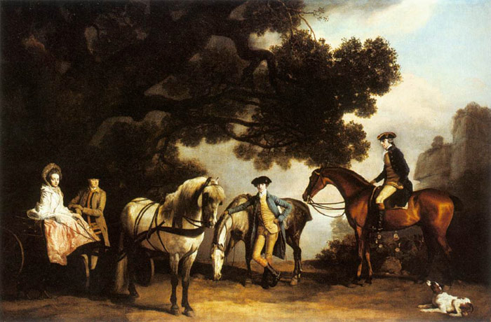 George Stubbs Reproductions-The Milbanke and Melbourne Families, c. 1769