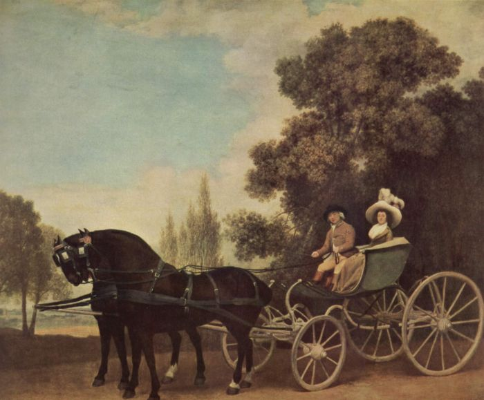 George Stubbs Reproductions-In the Phaeton, 1787