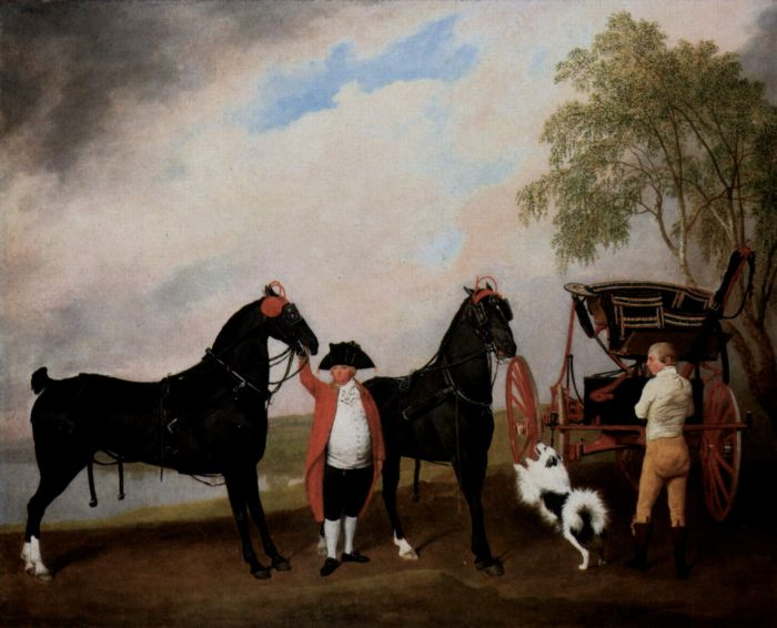 George Stubbs Reproductions-The Phaeton of the Prince of Wales, 1793