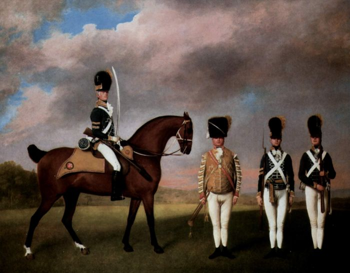George Stubbs Reproductions-Soldiers of the 10th Dragonerregiments, 1793