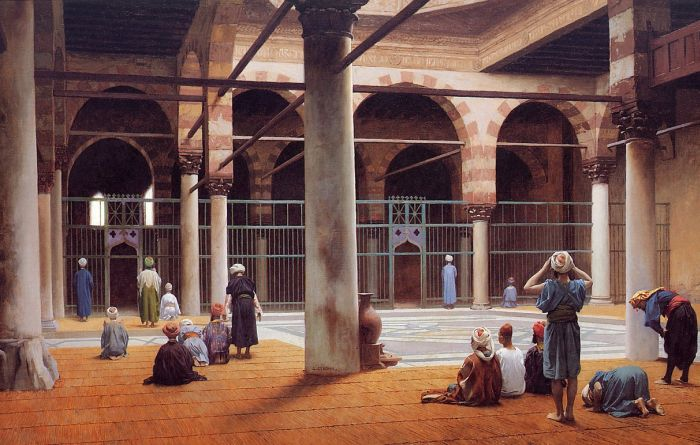 Paintings Reproductions Gerome, Jean-Leon Interior of a Mosque