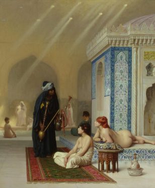 Jean-Leon Gerome  Reproductions-Pool in a Harem, 1876