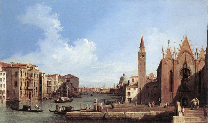 Paintings Reproductions Canaletto, Giovanni Antonio Canal Grand Canal: from Santa Maria della Carita to the Bacino di San Marco, 1730-1733