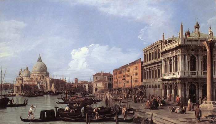 Paintings Reproductions Canaletto, Giovanni Antonio Canal The Molo: Looking West, 1730