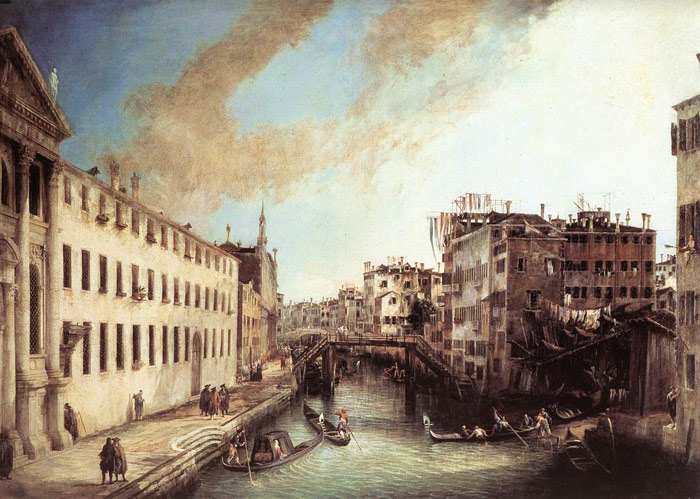 Paintings Reproductions Canaletto, Giovanni Antonio Canal Rio dei Mendicanti, 1723-1724