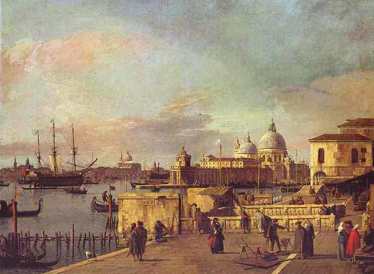 Entrance to the Grand Canal: from the West End of the Molo, 1735-40 Canaletto, Giovanni Antonio Canal Painting Reproductions