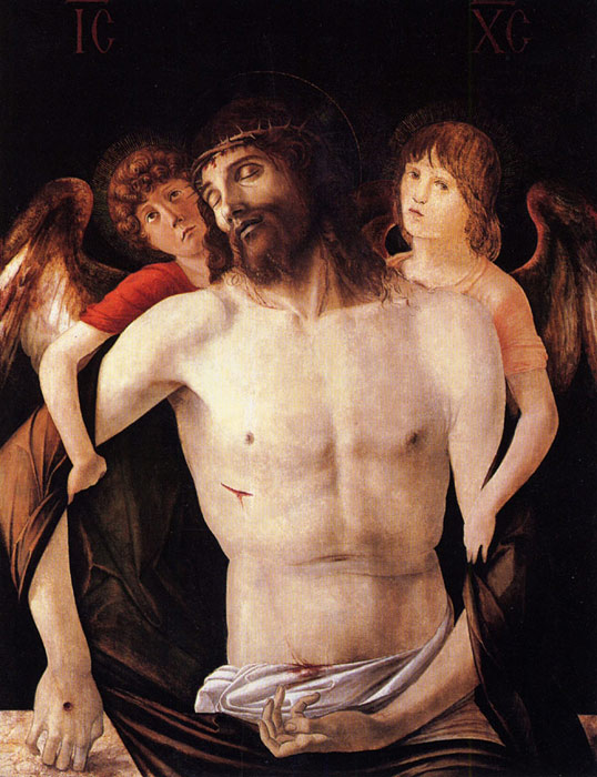 Giovanni Bellini Reproductions-The Dead Christ Supported by Two Angels