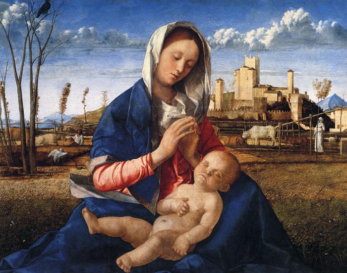 Giovanni Bellini Reproductions-Virgin and Child