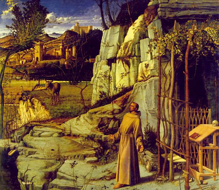 Giovanni Bellini Reproductions-St Francis in the Desert, 1480