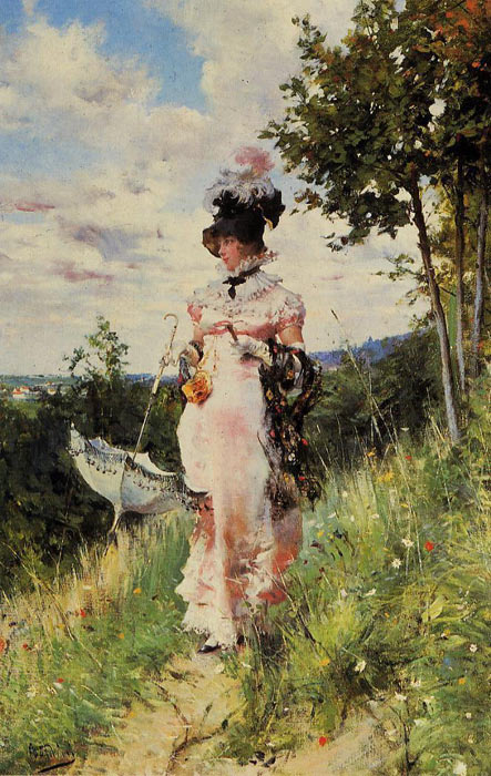Giovanni Boldini Reproductions-The Summer Stroll