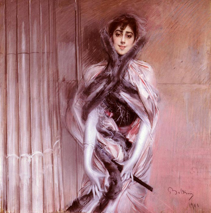 Giovanni Boldini Reproductions-Portrait Of Emiliana Concha De Ossa, 1901