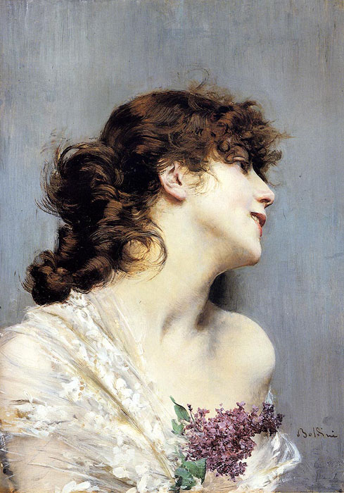 Giovanni Boldini Reproductions-Profile Of A Young Woman