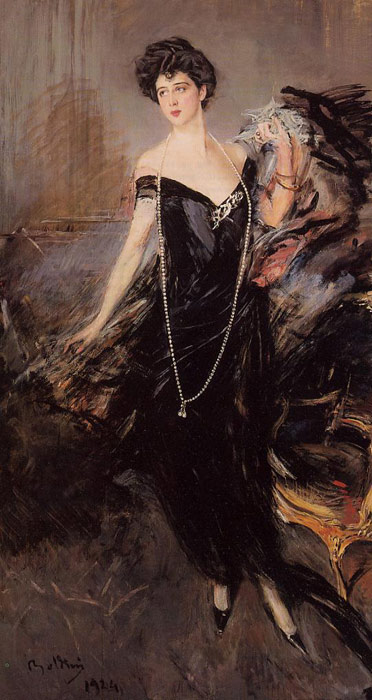 Giovanni Boldini Reproductions-Portrait of Donna Franca Florio, 1924