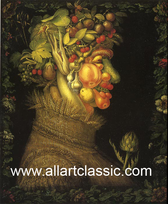 Giuseppe Arcimboldo Reproductions-Summer, 1573