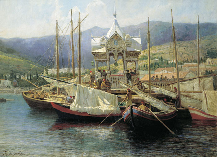 Paintings Reproductions Myasoedov, Grigory Grigorevich Ialta Harbour