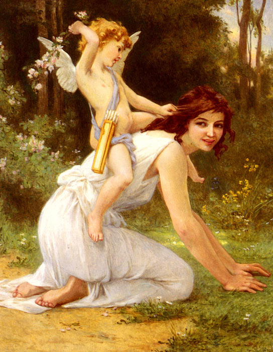 Guillaume Seignac Reproductions-Cupid's Folly