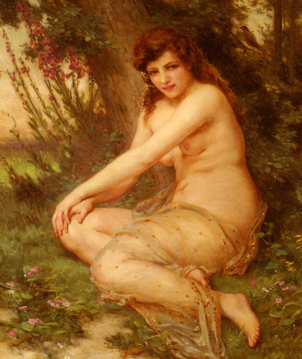 La Nymphe De Foret [The Forest Nymph] Seignac, Guillaume Painting Reproductions