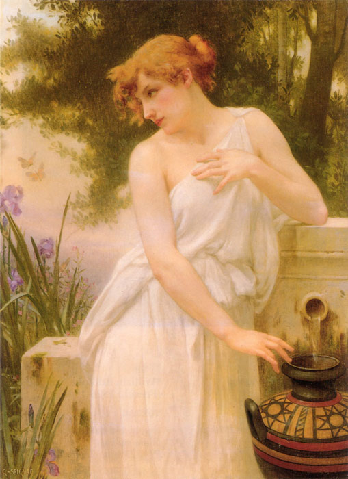Guillaume Seignac Reproductions-Beauty At The Well