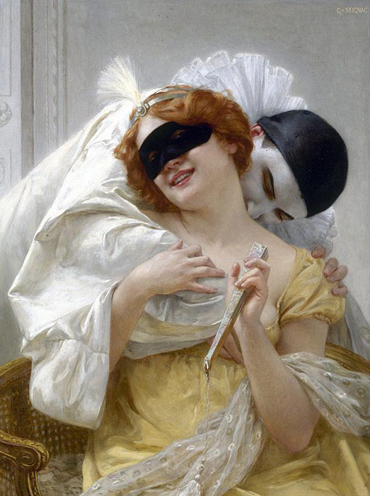 Guillaume Seignac Reproductions-Pierrot's Embrace
