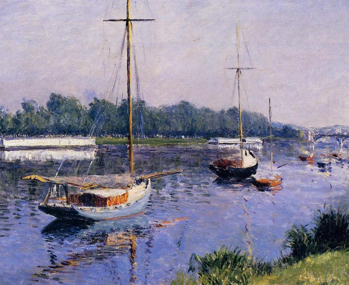 Gustave Caillebotte Reproductions-The Basin at Argenteuil, c.1882
