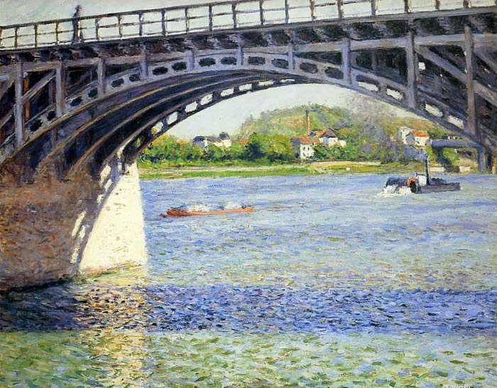 Gustave Caillebotte Reproductions-The Argenteuil Bridge and the Seine, c.1883