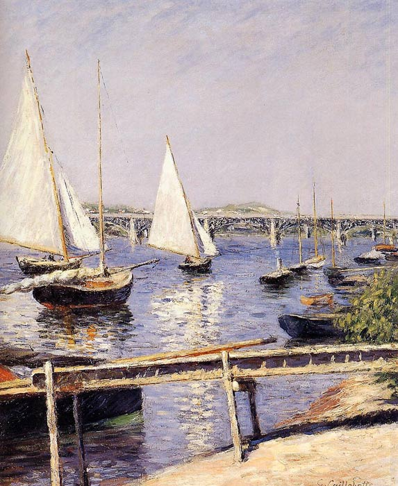 Paintings Reproductions Caillebotte, Gustave Sailing Boats at Argenteuil, c.1885-1890