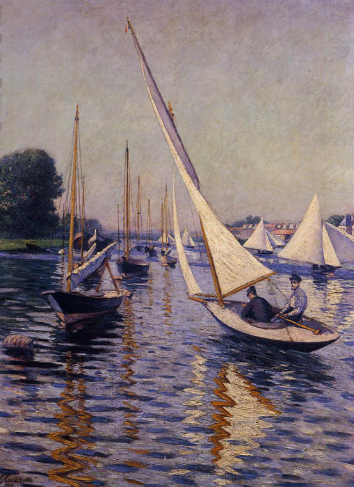 Gustave Caillebotte Reproductions-Regatta at Argenteuil, 1893