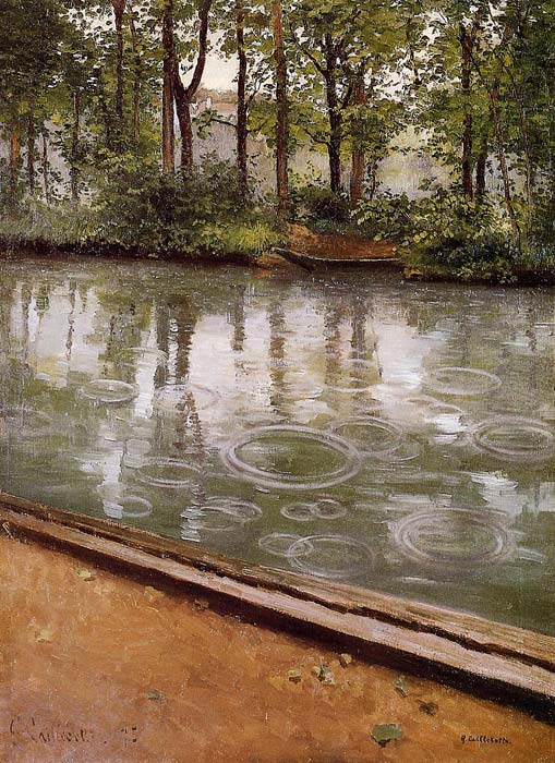 Gustave Caillebotte Reproductions-The Yerres, Rain, 1875