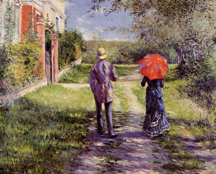 Gustave Caillebotte Reproductions-Rising Road, 1881