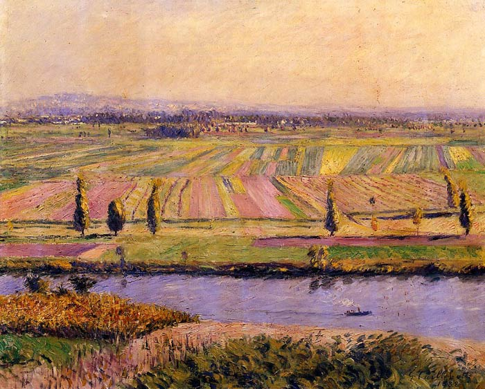 Paintings Reproductions Caillebotte, Gustave The Gennevilliers Plain, Seen from the Slopes of Argenteuil, 1888