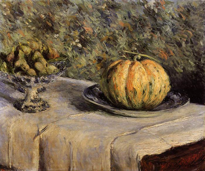 Gustave Caillebotte Reproductions-Melon and Bowl of Figs, 1880-1882