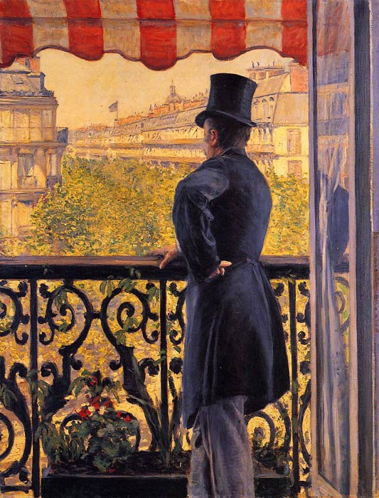 Paintings Reproductions Caillebotte, Gustave The Man on the Balcony,  1880