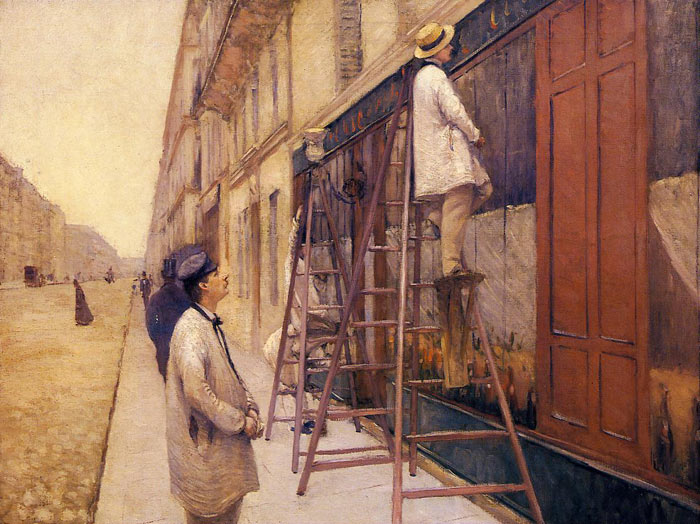 Gustave Caillebotte Reproductions-The House Painters, 1877