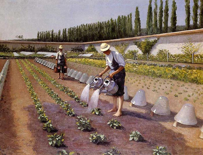 Gustave Caillebotte Reproductions-The Gardeners, 1875-1877