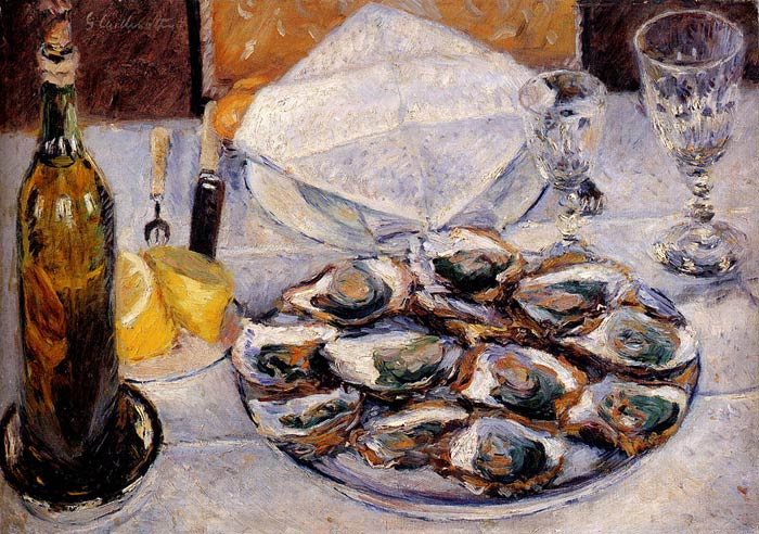 Still Life: Oysters, 1881 Caillebotte, Gustave Painting Reproductions