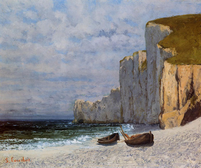 Paintings Reproductions Courbet, Gustave A Bay with Cliffs, c.1869