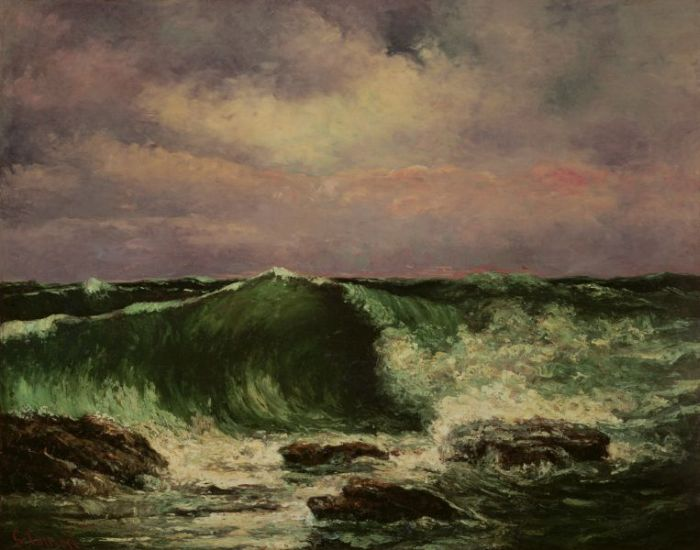 Gustave Courbet  Reproductions-Waves