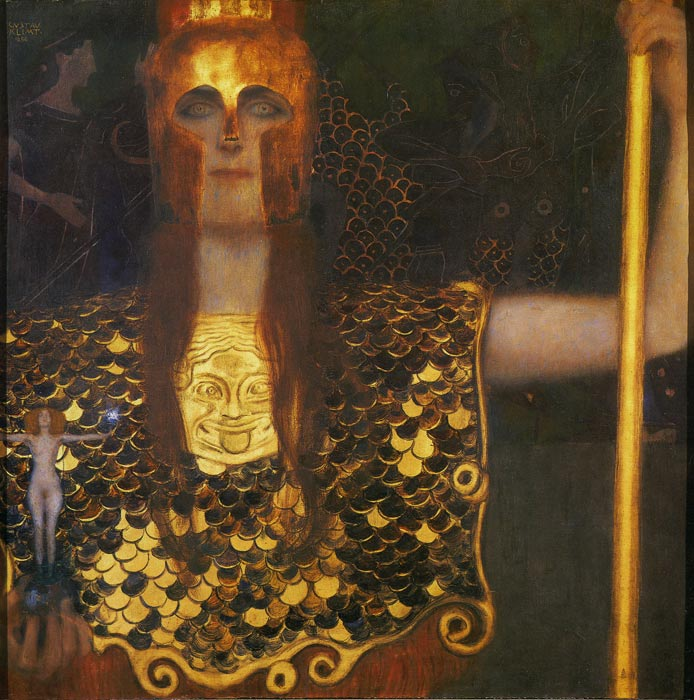 Gustave Klimt Reproductions-Pallas Athene, 1898