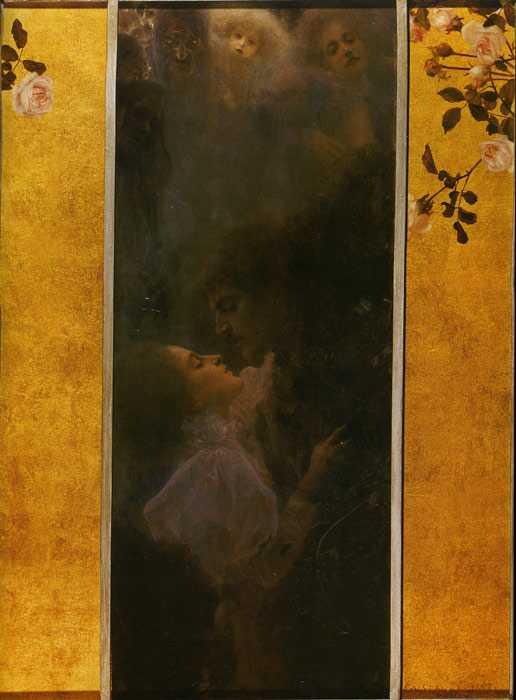 Gustave Klimt Reproductions-Love, 1895