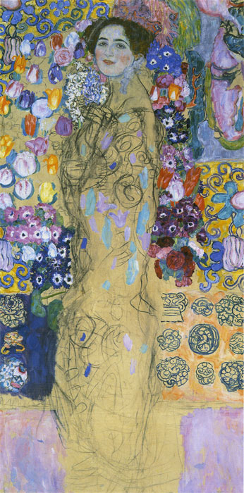 Gustave Klimt Reproductions-Portrait of a Lady, 1917