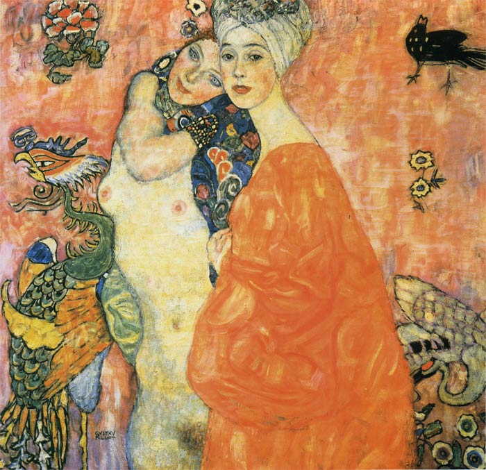 Gustave Klimt Reproductions-The Friends, 1916